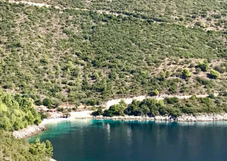 Waterfront plot in Evgiros-Afteli , 4534sqm with 40m face to the sea